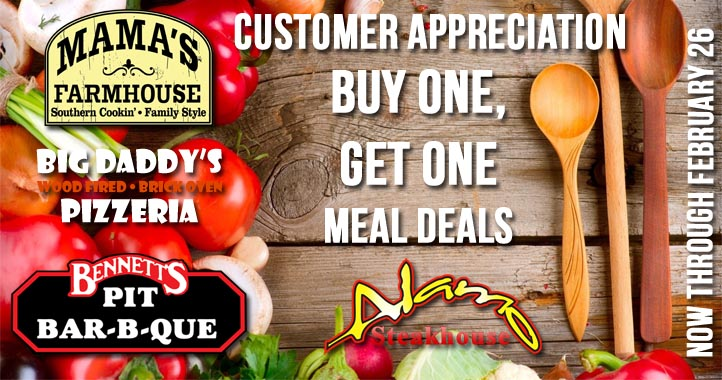 Buy One Get One Restaurant Specials