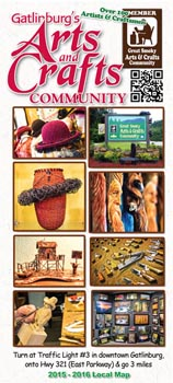 Gatlinburg 2016 arts crafts community guide for Gatlinburg arts and crafts community restaurants