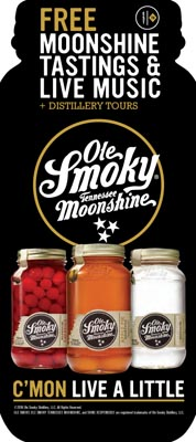 Free Live Entertainment and Moonshine Tasting
