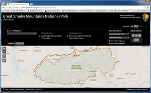 Great Smoky Mountains National Park Biodiversity Mapper