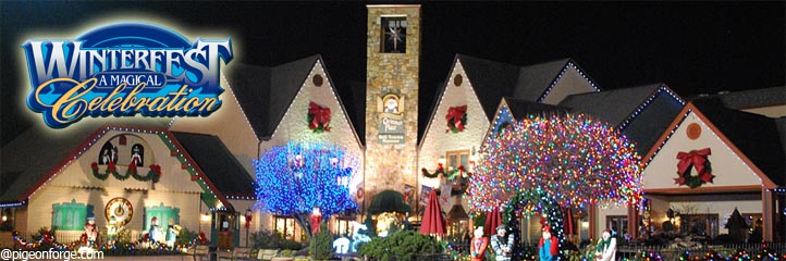 Smoky Mountains Winterfest in Gatlinburg, Pigeon Forge and Sevierville TN