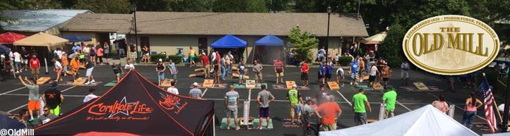 Old Mill Square Pigeon Forge TN Annual Cornhole Tournament