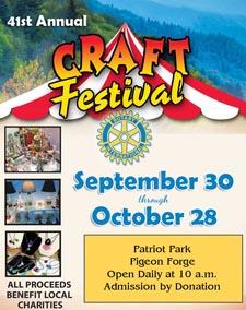 Pigeon Forge Rotary Club Craft Fair