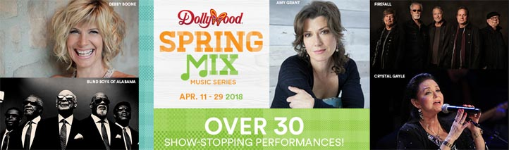 New at Dollywood 2018 Spring Music Mix Free Concerts