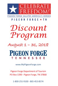 Pigeon Forge Restaurants Pigeon Forge 2018 Celebrate Freedom Military Discounts at