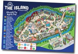 Pigeon Forge Island Map