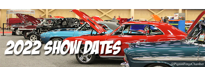 2022 Car Shows Pigeon Forge Sevierville Smoky Mountains